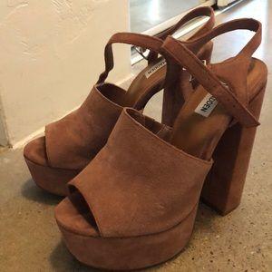 67e47478835 Steve Madden Shoes - Steve Madden Melina Suede Platform Heel